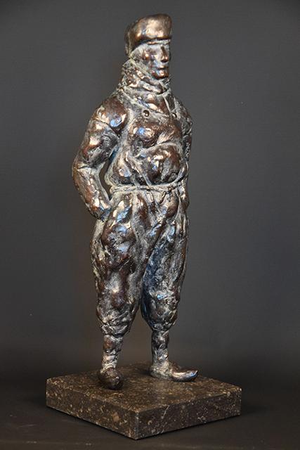 Urker Visser in brons - rechts