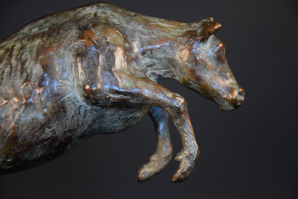 Koe in brons rechts