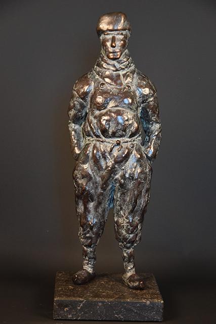 Urker Visser in brons - voorkant